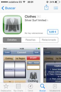 convert clothes