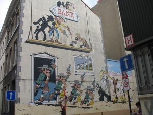 Mural de Lucky Luke. Rue de la Buanderie, 40