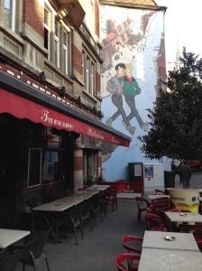 Broussaille, mural de Frank Pé. Rue Marché-au-Charbon