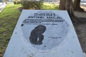 Monumento en Sagua la Grande, su localidad natal